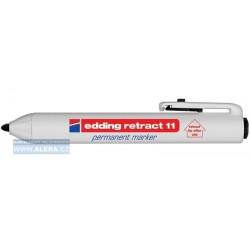 Zboží na objednávku - Popisovač Edding retract 11 permanentní 1,5-3mm černá