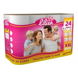 Papír WC 150x24ks 2vrst.bílý SPONGY (LILIEN) taška 24ks