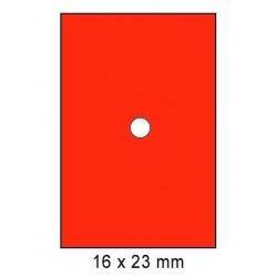 Cenové etikety 16x23mm 870ks Motex rovné okraje neon červená