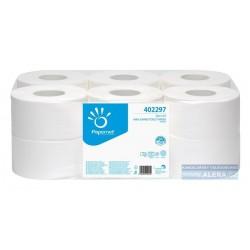 Papír WC JUMBO průměr 190mm 2vrs OVER premium 140m 100%celulóza BÍLÁ / 12rolí