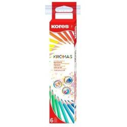 Zboží na objednávku - Pastelky 6ks trojhranné Kores Kromas 3mm