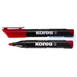 Popisovač permanentní Kores K-marker 3mm červený