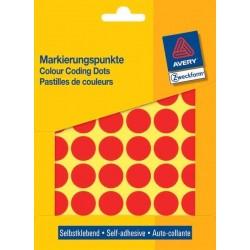 Zboží na objednávku - Etikety Avery Zweckform 3374 červené kolečko 18mm 1056ks
