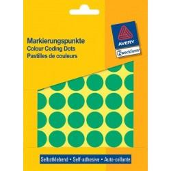 Zboží na objednávku - Etikety Avery Zweckform 3376 zelené kolečko 18mm 1056ks