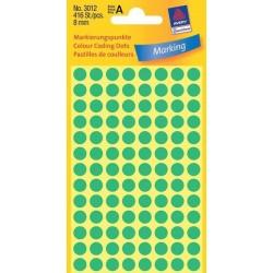 Zboží na objednávku - Etikety Avery Zweckform 3012 zelené kolečko 8mm 416ks