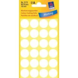 Etikety Avery Zweckform 3170 bílé kolečko 18mm 96ks