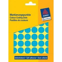 Zboží na objednávku - Etikety Avery Zweckform 3375 modré kolečko 18mm 1056ks