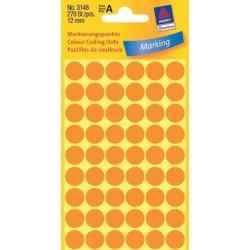 Zboží na objednávku - Etikety Avery Zweckform 3148 neon oranžové kolečko 12mm 270ks