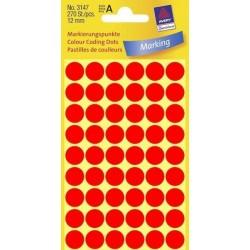 Zboží na objednávku - Etikety Avery Zweckform 3147 neon červené kolečko 12mm 270ks