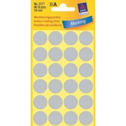 Zboží na objednávku - Etikety Avery Zweckform 3171 šedé kolečko 18mm 96ks