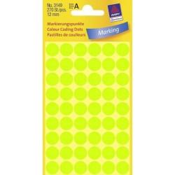 Zboží na objednávku - Etikety Avery Zweckform 3149 neon zelené kolečko 12mm 270ks