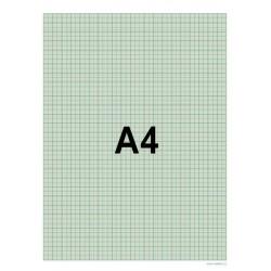 Papír milimetrový A4 50listů blok Papírny Brno