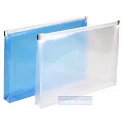 Zipová obálka A4 5ks průhledná 150mic. hřbet 2cm modrá