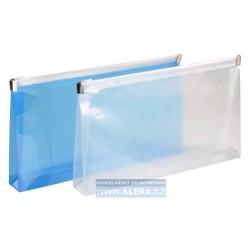 Zipová obálka DL 5ks průhledná 150mic. hřbet 2cm modrá