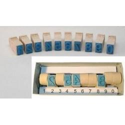 Razítko dřevěné sada 10kusů čísla 0-9 velikost 25mm