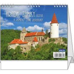 Kalendář 20S/BSL1 Hrady, zámky a památky ČR 165x135