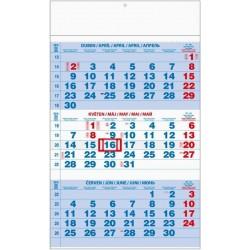 Kalendář 20N/BNC1 Tříměsíční modrý 292x420