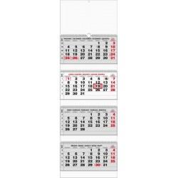 Kalendář 21N/BNC6 Čtyřměsíční skládaný 292x900