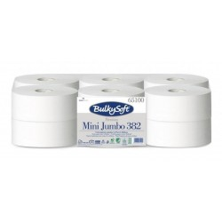 Papír WC JUMBO průměr 190mm 2vrs 145m 100%celulóza BÍLÁ / 12rolí (763)