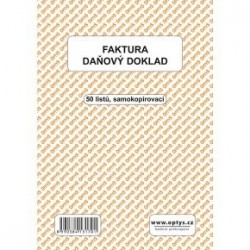 Tiskopis Faktura - daňový doklad A5,samopropisovací, OPT 1317