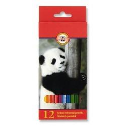 Pastelky 12ks Koh-i-noor 3552 zvířata