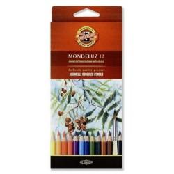 Zboží na objednávku - Pastelky akvarelové 12ks Koh-i-noor 3716 Mondeluz - umělecké - Plody