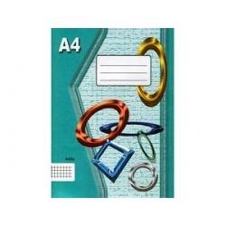 Sešit A4 445 čtvereček EKO !!!!!!!!