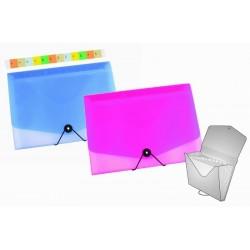 Zboží na objednávku - Přenosná kartotéka A4 - organizér 13tidílný OPALINE modrá