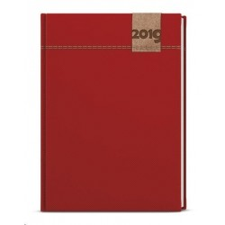 Diář.20 BDD19-6 David - denim - denní A5 143x205 červená
