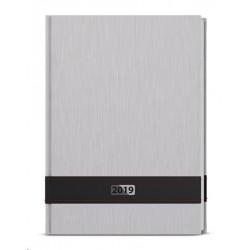 Diář.20 BDD26-9 David - ForMen - denní A5 143x205 Silver