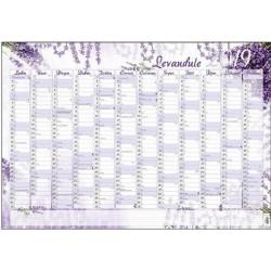 Kalendář 21N/BKA1 Nástěnný roční - Levandule 600x420