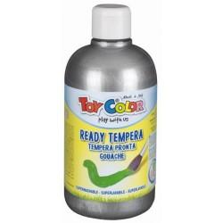 Zboží na objednávku - Barva temperová supervypratelná Toy Color 0.5 litr plast stříbrná
