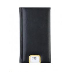 Diář.19 809 denní Memory 98x183 černá AKCE-VÝPRODEJ
