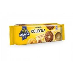 OPAVIA sušenky Zlatá kolečka s máslovou příchutí polomáčené