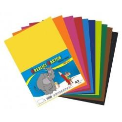 Kreslící karton barevný A3/60 listů 180gr. mix 12 barev