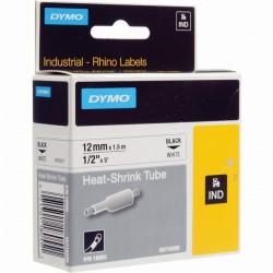 Dymo páska RHINO SMRŠŤOVACÍ bužírka 12mm x 1.5m černý tisk / bílý podklad 18055 S0718300