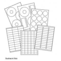 Etikety R0119 bílé lesk A4 100listů 210x297 5 slitů