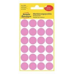 Etikety Avery Zweckform 3599 růžové kolečko 18mm 96ks