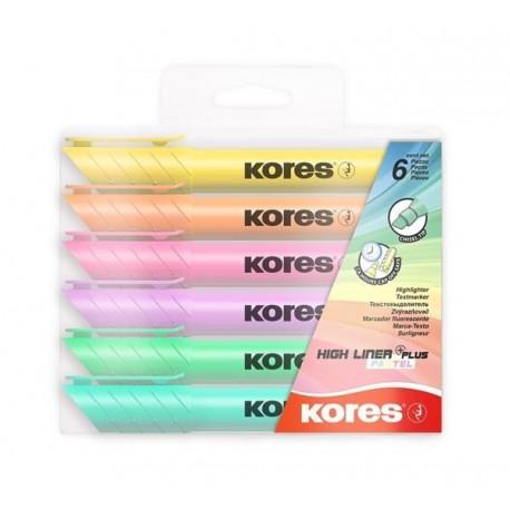 Zvýrazňovač Kores HIGH LINER Plus sada/6 barev