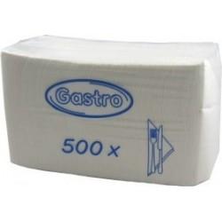 Ubrousky skládané GASTRO 30x30 servírovací /500ks bílá