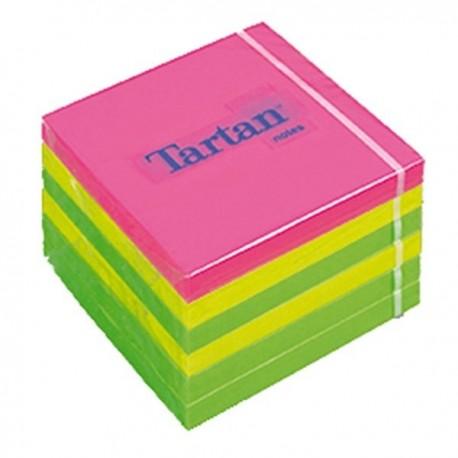 .Lepicí bloček 3M Tartan 7676N 76x76mm 600 lístků neon mix