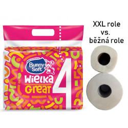 Papír WC 110m 500x4 2vrst.Bunny Soft XXL - 100% celulóza