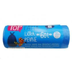 Sáček do koše na tříděný odpad PAPÍR - 60L /30ks modrá