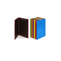 Deska psací podložka dvojitá A4 lamino Korona Canteira horní klip fialová