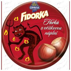 Oplatky OPAVIA FIDORKA hořká čokoláda s oříškovou náplní 30g